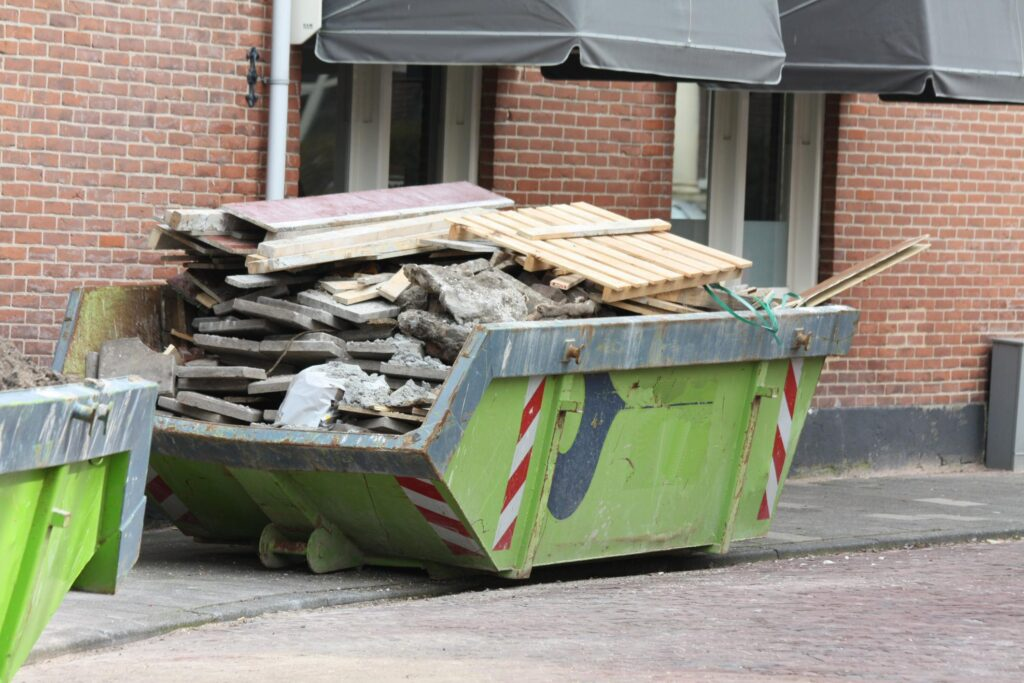 dumspter full of construction waste